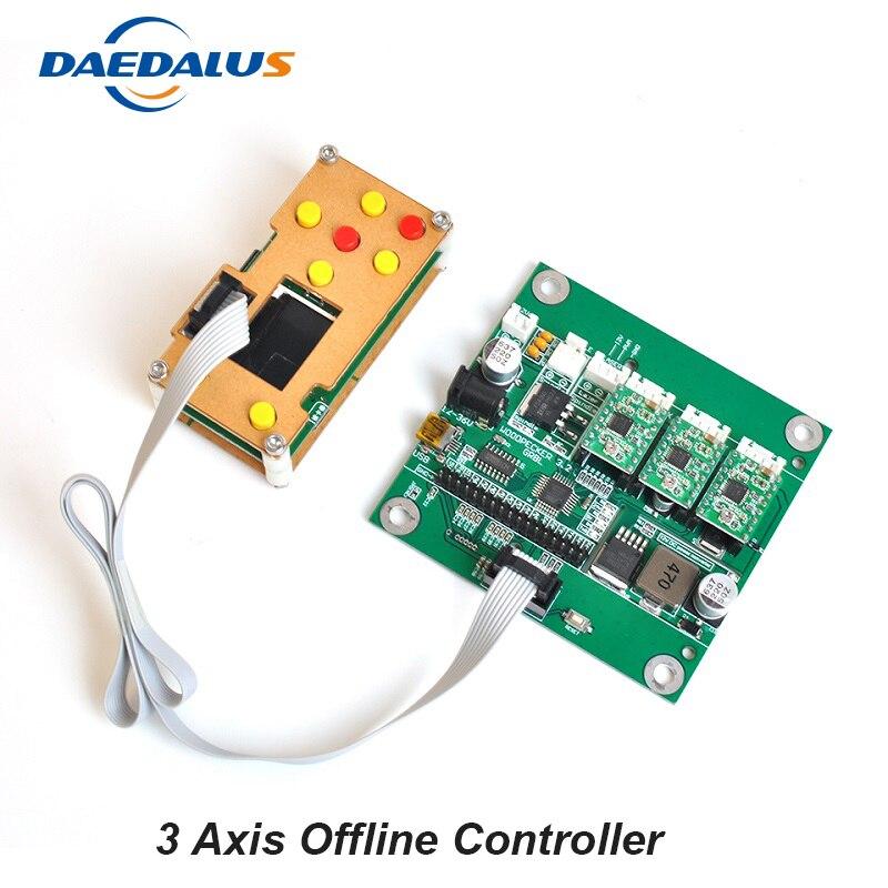 CNC GRBL contrôle contrôleur hors ligne 3 axes USB panneau de contrôle contrôleur d'écran pour bricolage Laser graveur 3018 Machine bois routeur
