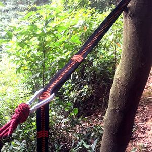 Image 2 - TR 16280 Outdoor Tree Hanging Hammock Strap High Load Bearing Nylon Webbing Climbing Rope Durable Camping Travel Portable Sling