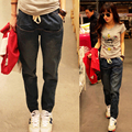2017 de Moda de Nova Primavera Outono Mulheres Jeans Mulher Harém Solto calça jeans Feminina 200mm Harem Pants Plus Size Calças Jeans Venda Quente B266