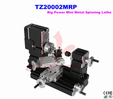 Electroplated Metal type! Big power Mini Metal spinning lathe machine TZ20002MRP for DIY amateur