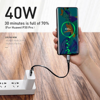 Baseus 5A Supercharge USB Type C Cable for Huawei P30 Mate 30 Pro Portable USB C Cable Quick Charge 3.0 for Xiaomi 9 USB-C Wire