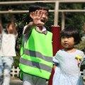 2016 Crianças Para Usar Visibilidade Aviso Colete de Trabalho Ao Ar Livre Para Running Ciclismo Colete Arnês Cinto de Segurança Reflexiva Jaqueta