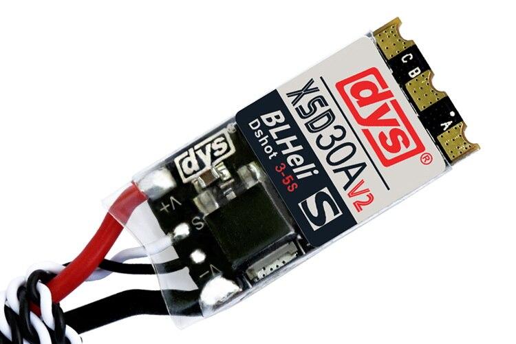 4 stks/partij Originele DYS ESC XSD 30A V2 3 5 S BLHeli_S Ondersteunt Dshot600 Dshot300 voor FPV Quadcopter-in Onderdelen & accessoires van Speelgoed & Hobbies op  Groep 2