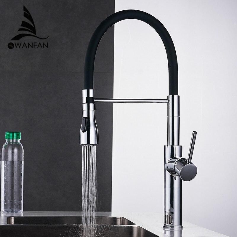 Baterie kuchenne Chrome Kitchen Sink Crane nablatowa Pull Down podwójna dysza opryskiwacza Torneira De Cozinha mikser krany wody LK 9910 w Baterie kuchenne od Majsterkowanie na AliExpress - 11.11_Double 11Singles' Day 1