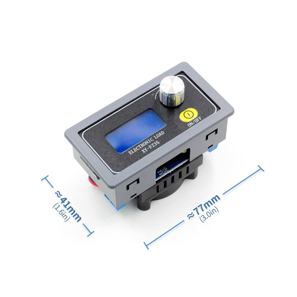 35w electronic load adjustable constant current aging resistor battery voltage capacity tester LCD voltage current power display