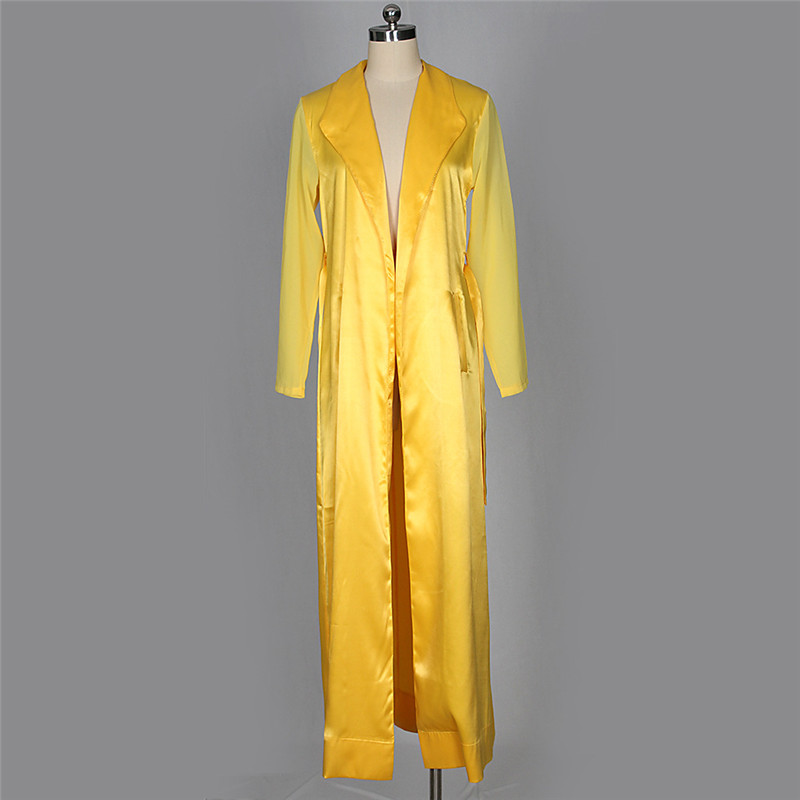 autumn chiffon sleeve long trench outwear-26