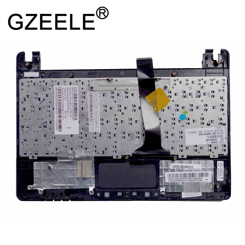 Image 2 - GZEELE RU FOR ASUS Eee PC X101H X101CH X101 Laptop Keyboard Russian with C shell palmrest cover upper case keyboard bezel BLACK-in Replacement Keyboards from Computer & Office on
