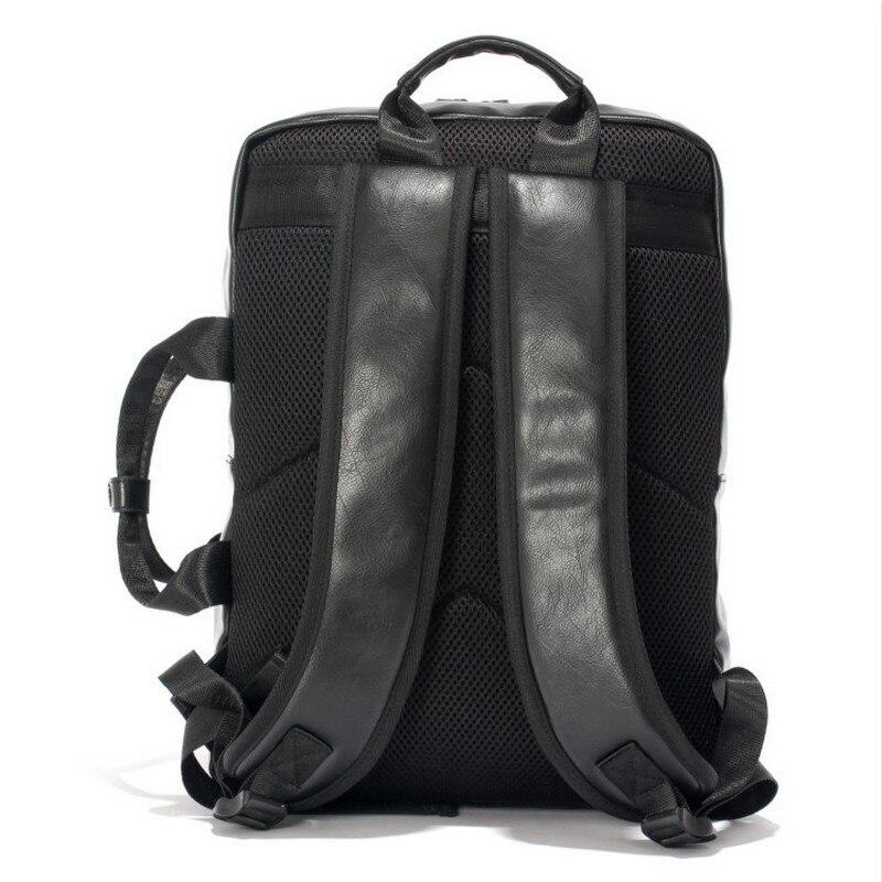 2018 New Arrival Vintage Unisex Backpack Women Pu Retro Travel Backpack Male Casual Back Pack Portable Men 15.6 Laptop Backpack