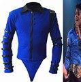 Rare MJ Michael Jackson BAD de Bule Bodysuit magro estilo Punk Heavy Metal melhor coleção