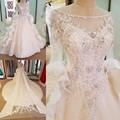 LS58979 халат де mariée манш longue корсет назад бисера кристалл бальное платье люкс свадебное платье с длинным хвостом кот настоящее фотографии