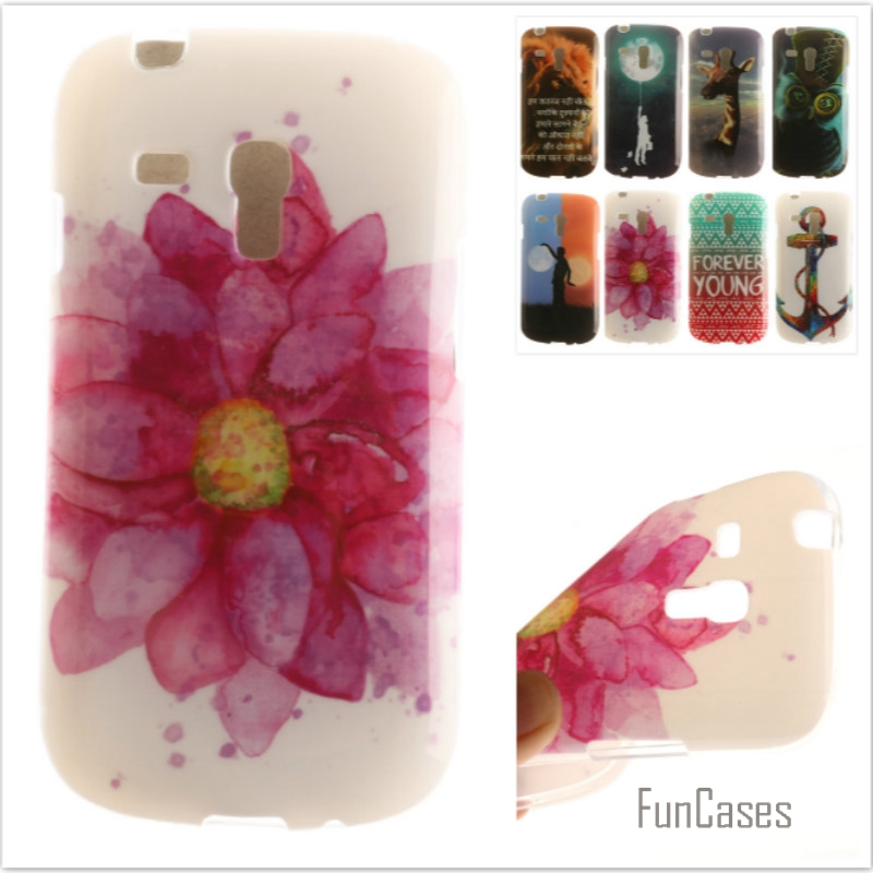 Luxury High quality Soft TPU Butterfly flower Pattern phone Cases for Samsung Galaxy S3 mini Rubber Silicon cover Free Shipping