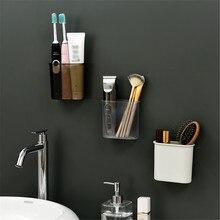 Полка для хранения в ванной комнате, водонепроницаемый бесшовный настенный стеллаж для зубной щетки, зубной пасты, аксессуары для ванной, кухни, дома