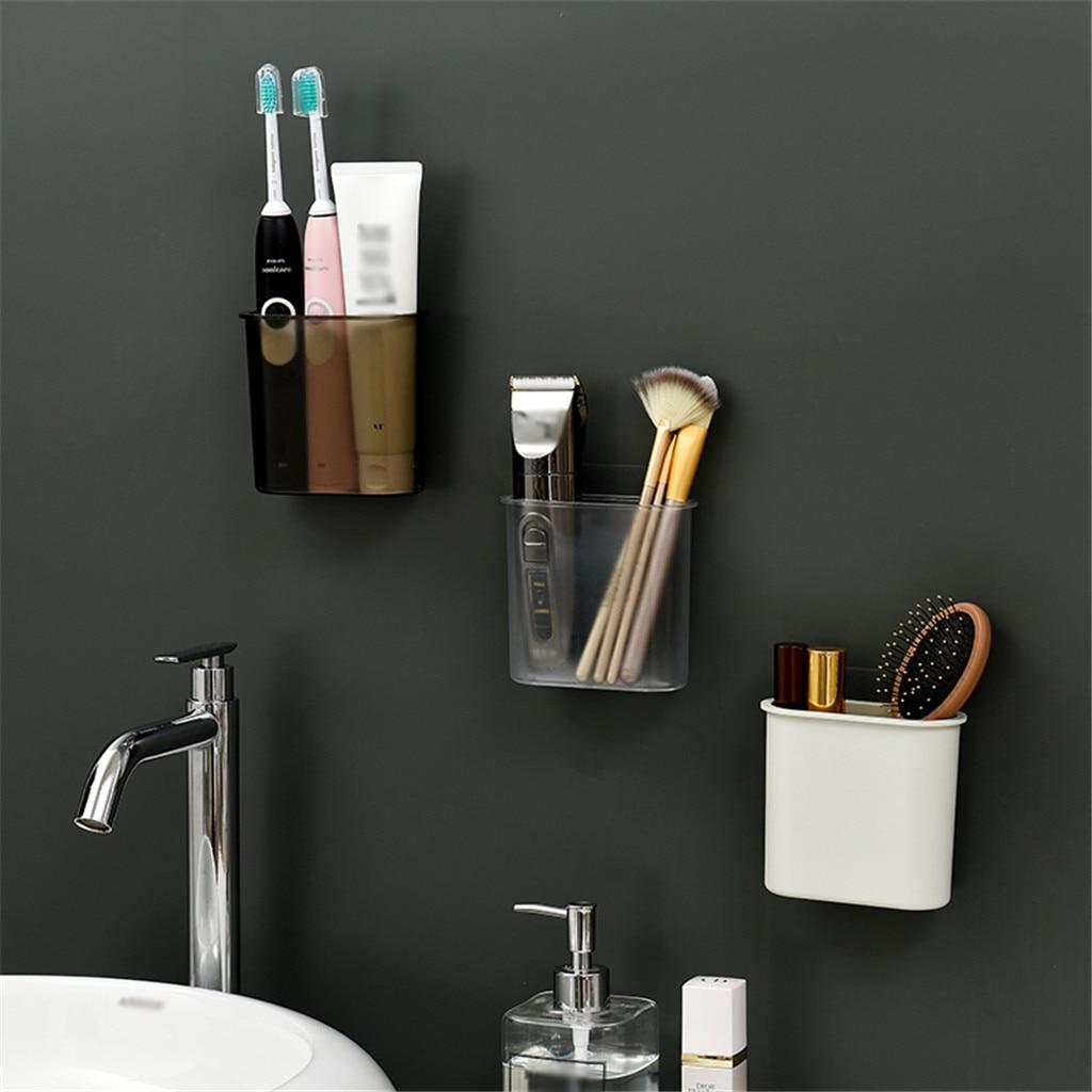 Bathroom Storage Shelf Rack Box Waterproof Seamless Wall-Mounted Toothbrush Toothpaste Rack Bathroom Kitchen Home Accessories