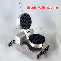 Бесплатная доставка коммерческих Электрический вафельный машины коммерческий вафельница Кухня прибор антипригарным вафли панорамирован