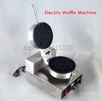 Бесплатная доставка коммерческих Электрический вафельный машины промышленная вафельница Кухня прибор антипригарным вафли панорамирован