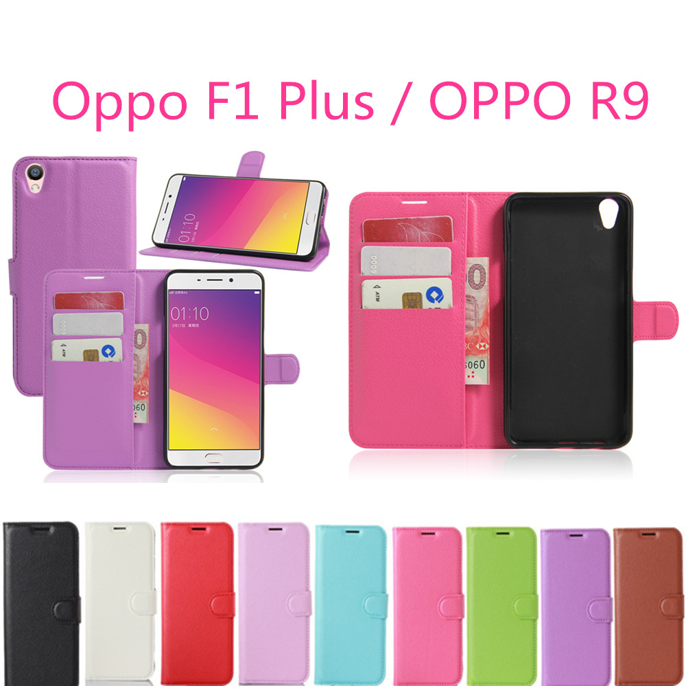 Oppo F1 Plus / OPPO R9 Case Wallet Style PU Leather Mobile Phone Fundas For OPPO R9 F1 Plus 5.5inch Coque with Card Holder