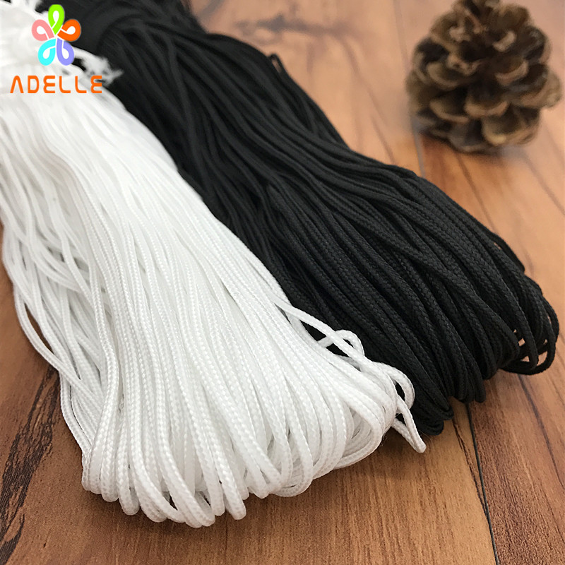 Braided Nylon Rope 1 5 2mm White Black Coffee Color