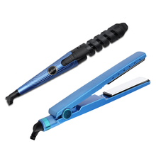 CHJPRO Hair Straightener Curler Chapinha Titanium Profissional Hair Flat Iron Salon Hair Straightening Iron Styling Tool led display 2 in 1 ceramic hair straightener comb hair curler infrared straightening corrugated iron crimper chapinha flat iron