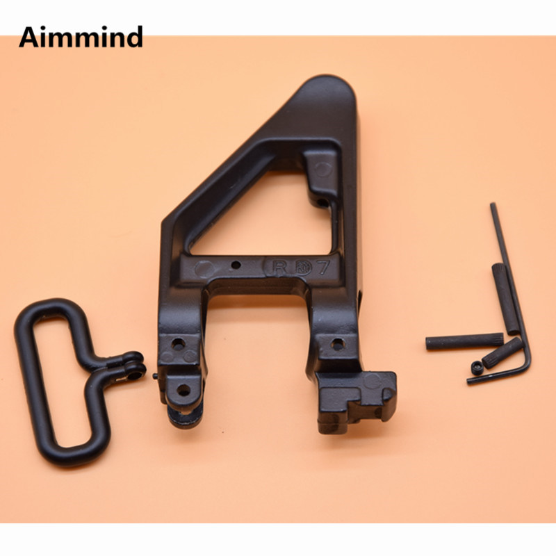 Tactical Standard A2 Triangle Front Sight GAS BLOCK .750 Aluminum Alloy For M Series Airsoft AEG Hunting Accessories