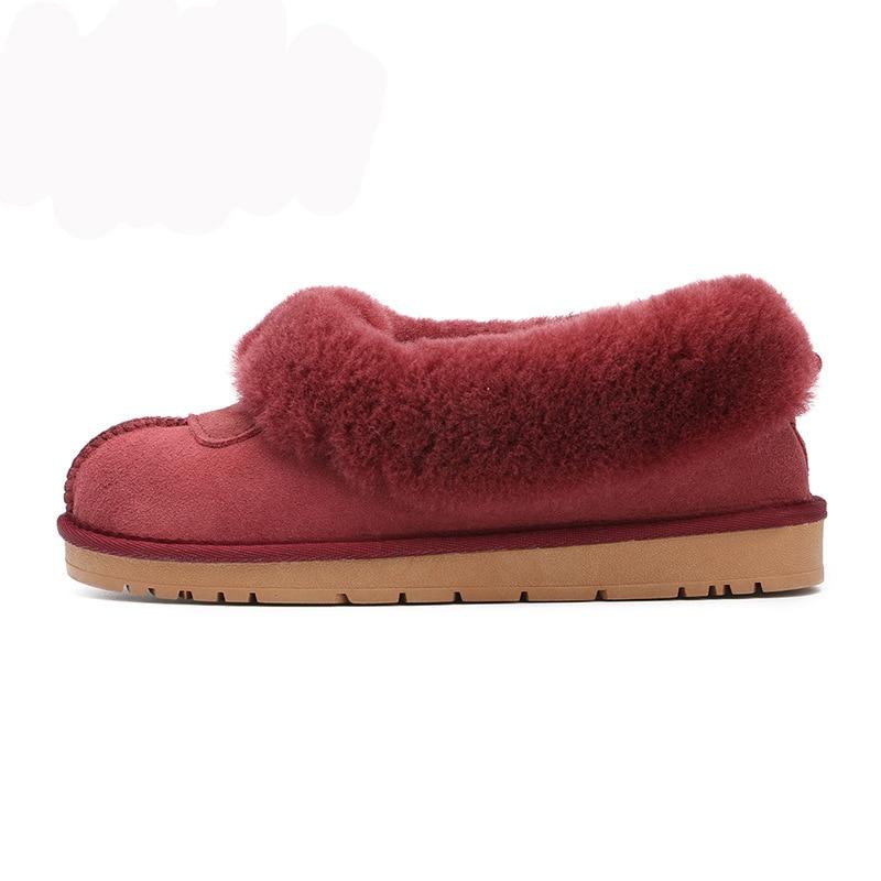 Nouveau Top qualité femmes mode bottes de neige en peau de mouton véritable femmes bottes chaud laine hiver chaussures 100% fourrure naturelle bottines-in Bottes de neige from Chaussures    2
