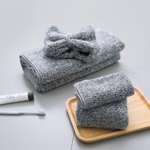 Four-piece Set Bath Towel Handkerchief Shower Cap Dry Hair C
