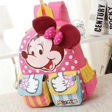 Cartoon Mickey Children School Bags For Girls Boy Kids Backpack Child Book Bag Minnie Princess Schoolbags