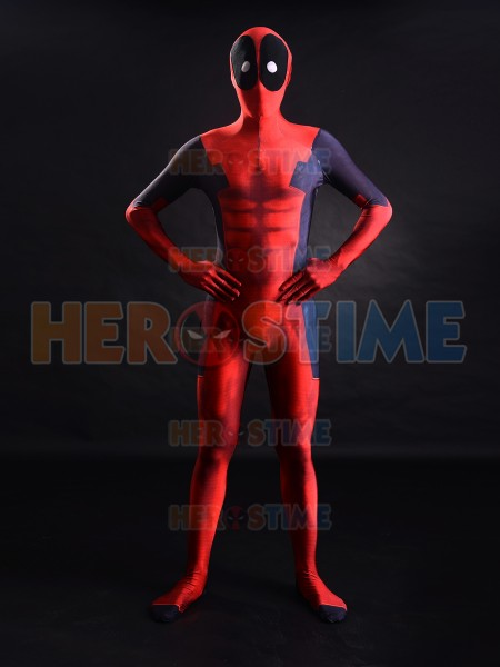 3D impression Deadpool Costume Muscles ombre Morph plein corps Costume Halloween Cosplay Costume de fête pour adulte/enfants/sur mesure
