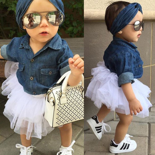 Kids Baby Girl Clothing Sets Baby Girl Fashion Denim Long Sleeve Tops Shirt And Tutu Skirts 3pcs Outfits Set Baby Clothing Kids Baby Girl Clothing Sets Baby Girl Fashion Denim Long Sleeve Tops Shirt And Tutu Skirts 3pcs Outfits Set Baby Clothing