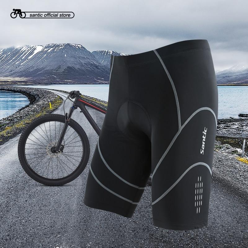 Santic Coolmax 4D Padded Cycling Shorts Shockproof MTB Road Bike Shorts Reflective Bermuda Ciclismo Asian size