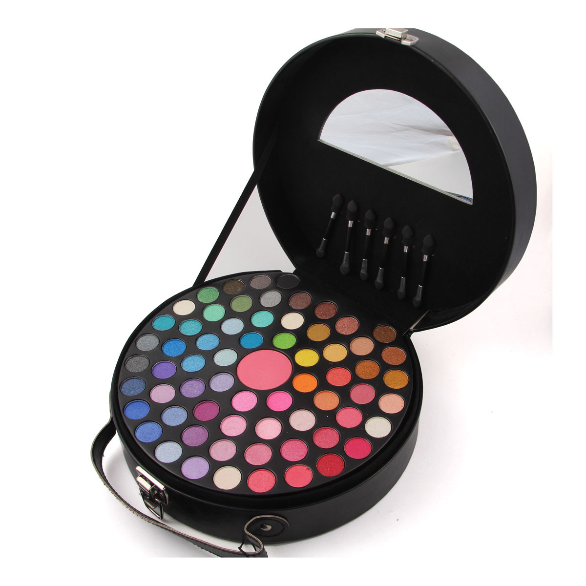 65 Color MISS ROSE Eye Shadow Palette Lady Blush Eye Shadow Makeup Box Portable Round Cosmetic Case Set Make-up Essential professional make up 144 color eye shadow 3 color blush 3 color eyebrow powder makeup set box