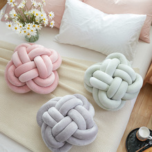 fashion round knot ball pillow Soft Plush Handmade Knotted cushion baby children Home Office decorative Pillows kid Stuffed Toys все цены