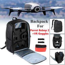 New Black backpack For parrot bebop 2 power FPV + VR Goggles Camera Drones