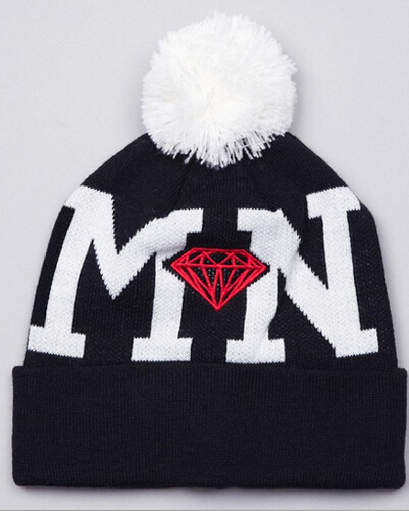 Fashion Hat Winter Hip Hop Diamond Beanies and skullies MN DD men and women wool hat