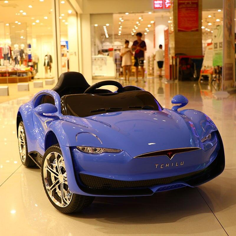 Abdo télécommande Automobile jouets voiture électrique enfant voiture électrique quatre roues Double entraînement jouet voiture rechargeable bébé peut s'asseoir sur - 3