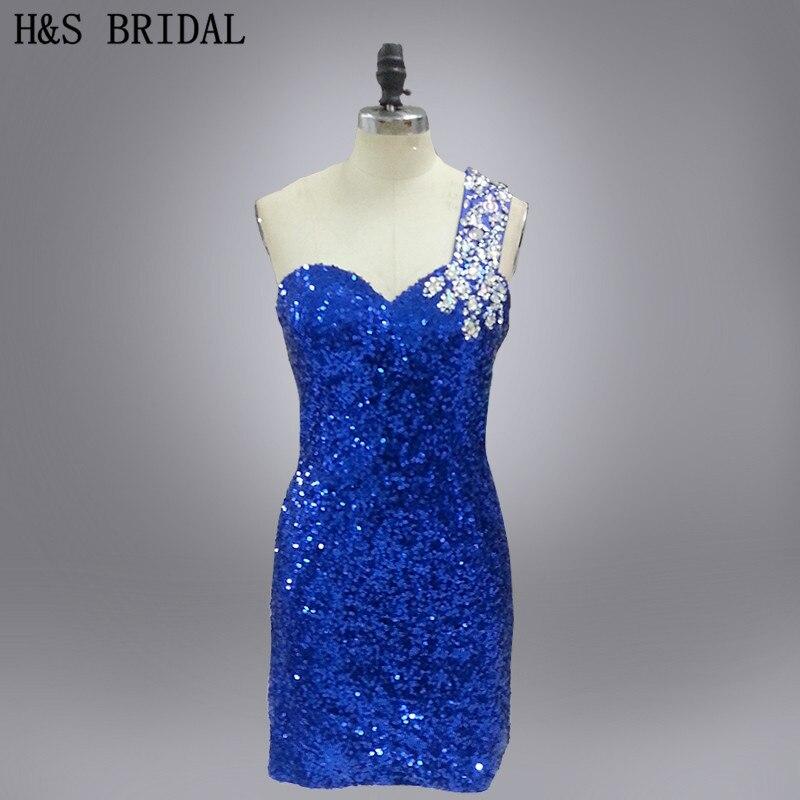 Реальная Модель на одно плечо Расшитое бисером пикантные коктейльное платье