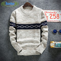 2016 New Autumn winter solid Fashion Mens Sweaters And Pullovers Men Brand Casual Sweater O-Neck Grometric Slim Fit Knitting