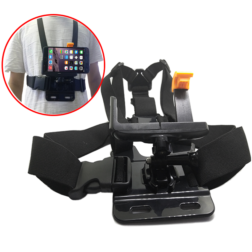 TUYU Adjustable Chest Strap Mobile Phone Holder Strap Mobile Phone Holder For IPhone Samsung Smartphone Portable