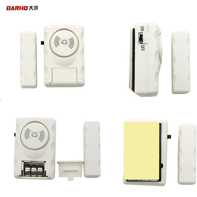 DARHO Home windows burglar alarm super loud alarm doors and windows simple door sensor door alarm