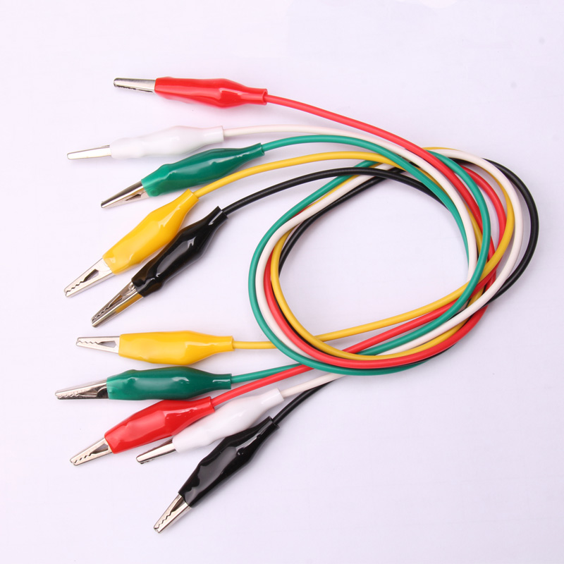 Glyduino 5PCS Alligator Clips Electrical DIY Test LeadsAlligator Double-ended Crocodile Clips Roach Clip Test Jumper Wire