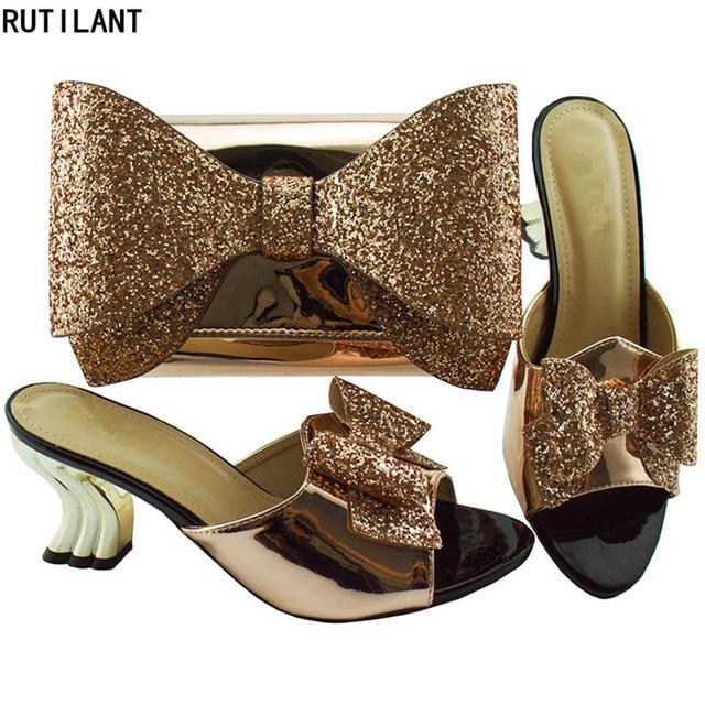 cee5a02ab8d14 Afrika Ayakkabı ve Eşleşen Çanta Seti Dekore ile Taş Satış Kadın Eşleşen  Ayakkabı ve Çanta Nijeryalı
