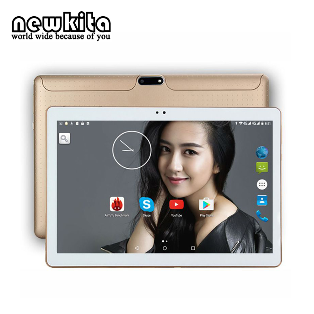 Newkita 3G Tablet 10.1 inch Android 7.0 Octa Core 1280*800 IPS MID RAM 4G ROM 32GB Dual Cam Bluetooth GPS PC Kids Gift Computer