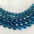 AAA (elegir tamaño) 1 hebra/pack 100% Strands Piedra Natural Cristal Cuarzo Azul Del Grano Granos Flojos de la Joyería