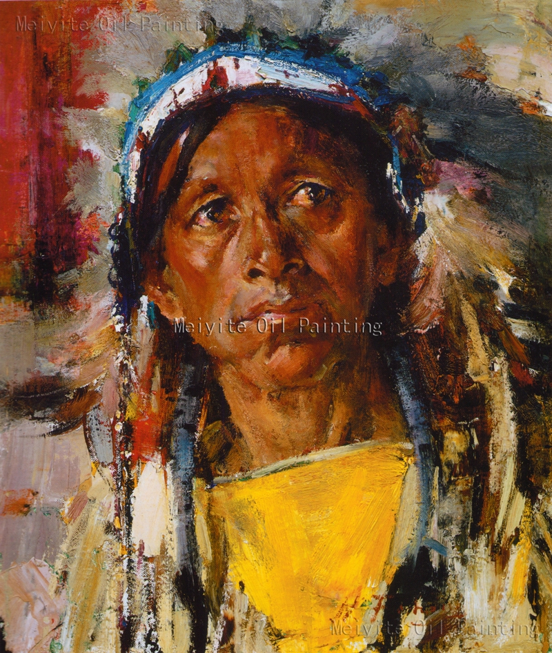 American Indian Woman Portrait Painting