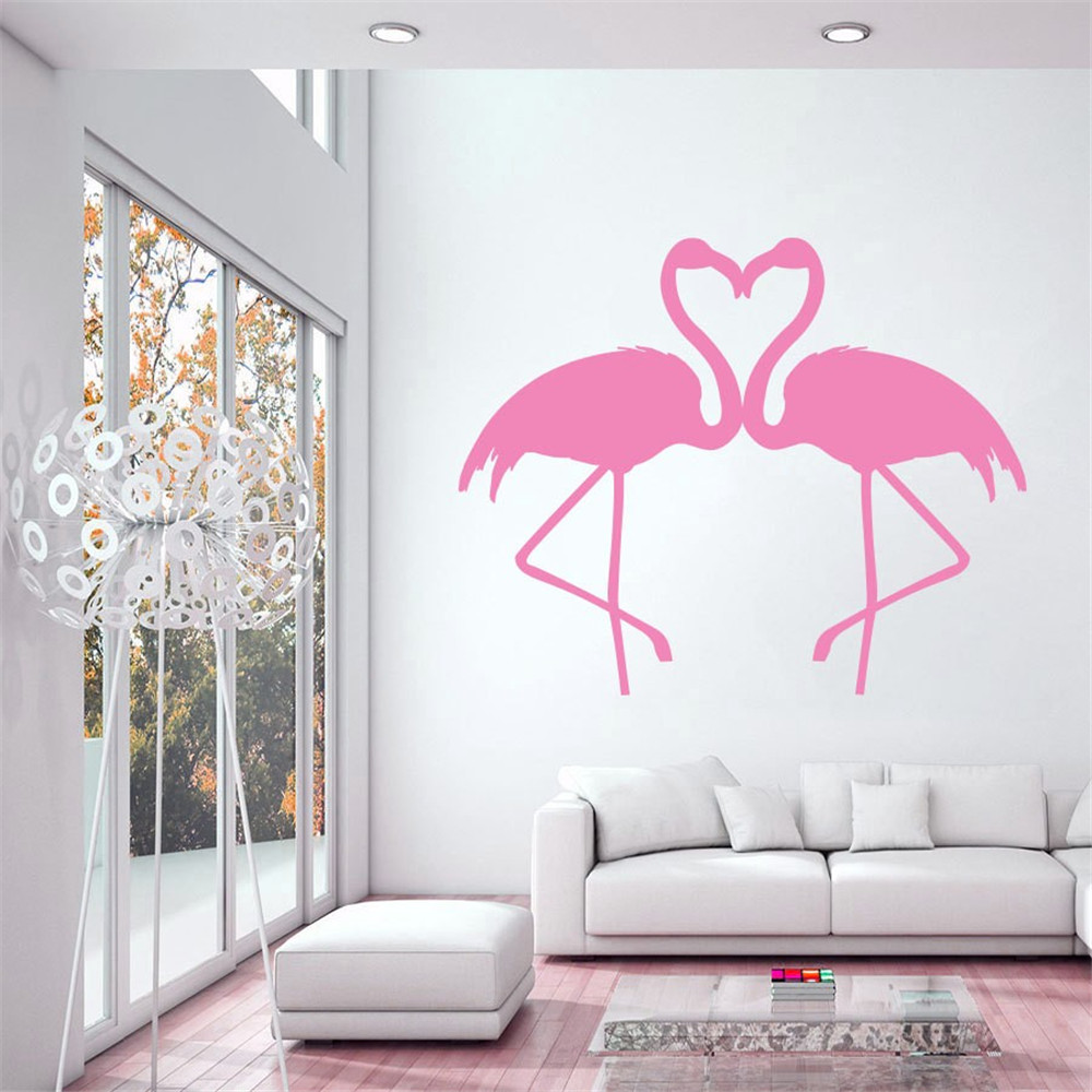Birds Fauna Flamingo Pink Bird Vinyl Sticker Home Decor ...