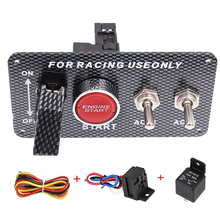цена на Car Switch 12V Ignition Engine Panel Racing Car Start Push Button 2 Toggle Switch Panel 12V for Racing car