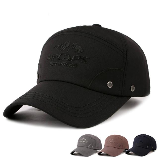 O novo boné de beisebol dos homens de Moda ao ar livre cap Algodão bordado cap protetor solar