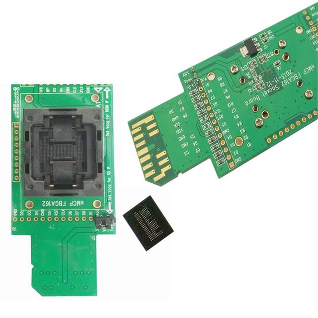 EMMC reader тесты разъем с SD интерфейс BGA153 BGA169 размеры 11,5x13 мм  Шаг 0,5 программист