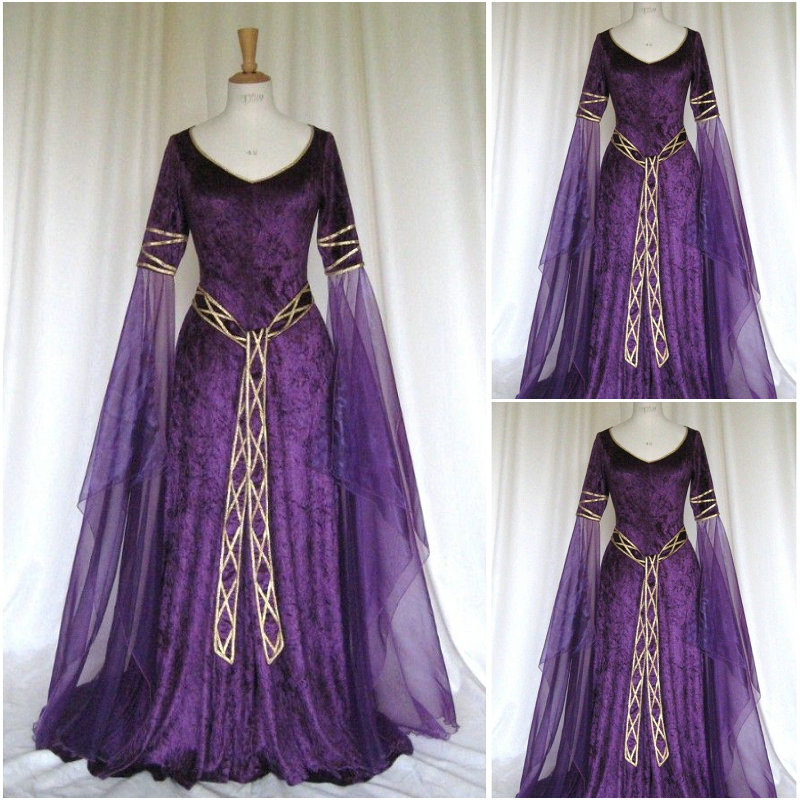 HistoricalCustomer made Luxs Purple Vintage Costumes Renaissance Dresses Ste&unk dress Gothic Cosplay Halloween Dresses C 1145-in Holidays Costumes from ... & HistoricalCustomer made Luxs Purple Vintage Costumes Renaissance ...