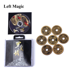 Luohanqian Chinese Coin Sets ( include 5 pcs coin and 2 pcs Half Dollar Version) - Coin Money Magic props Magic Trick G8034 недорого