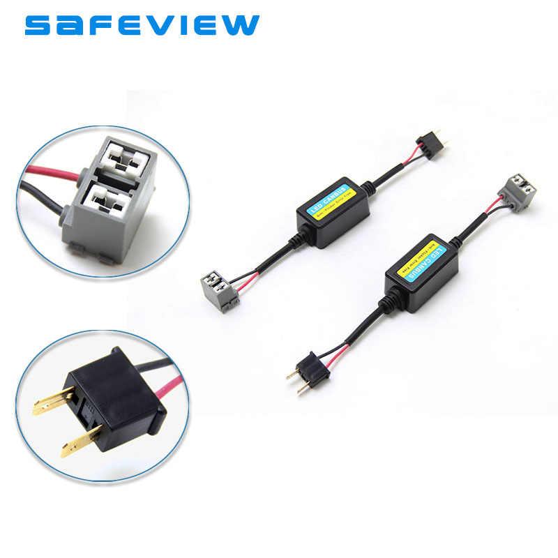 H4/H7 Farol Do Carro Levou Livre de Erros Canbus Decoder Resistor Lâmpada LED H1 H8 H9 H11 9005 9006 Carro cancelador de Aviso De erro